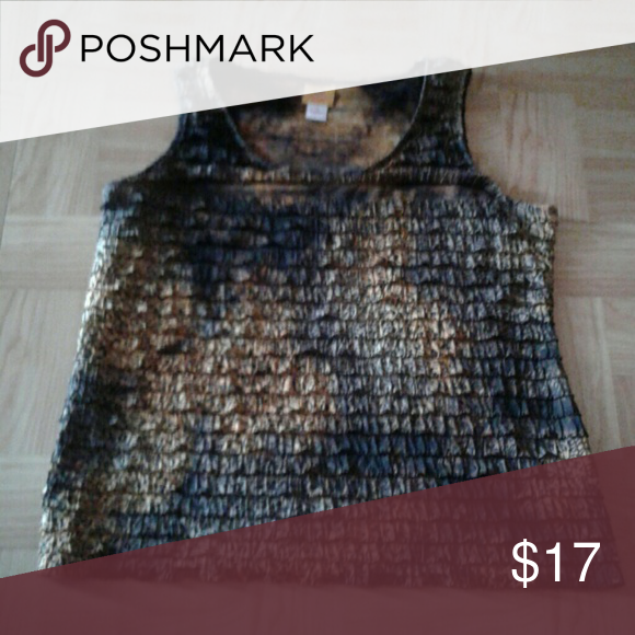 Ruby Rd Woman Multi Brown Colored Leopard Print Sleeveless Top Tops Tank