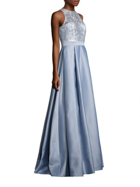 Badgley Mischka Embroidered A-Line Gown Saks Fifth Avenue - sale ...