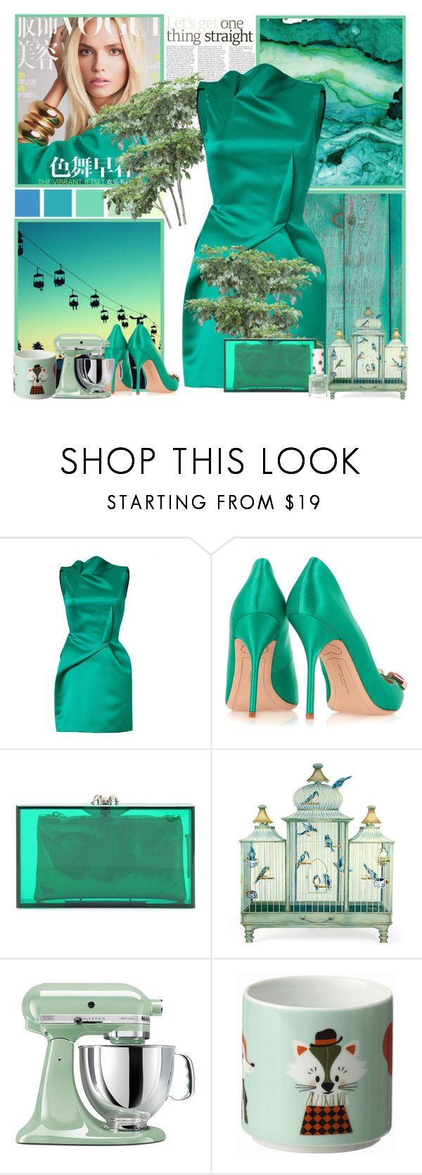 """""""go out"""" by bodangela ❤ liked on Polyvore featuring Roland Mouret, Sophia Webster, Charlotte Olympia, Seed Design, KitchenAid, ferm LIVING and Topshop"""