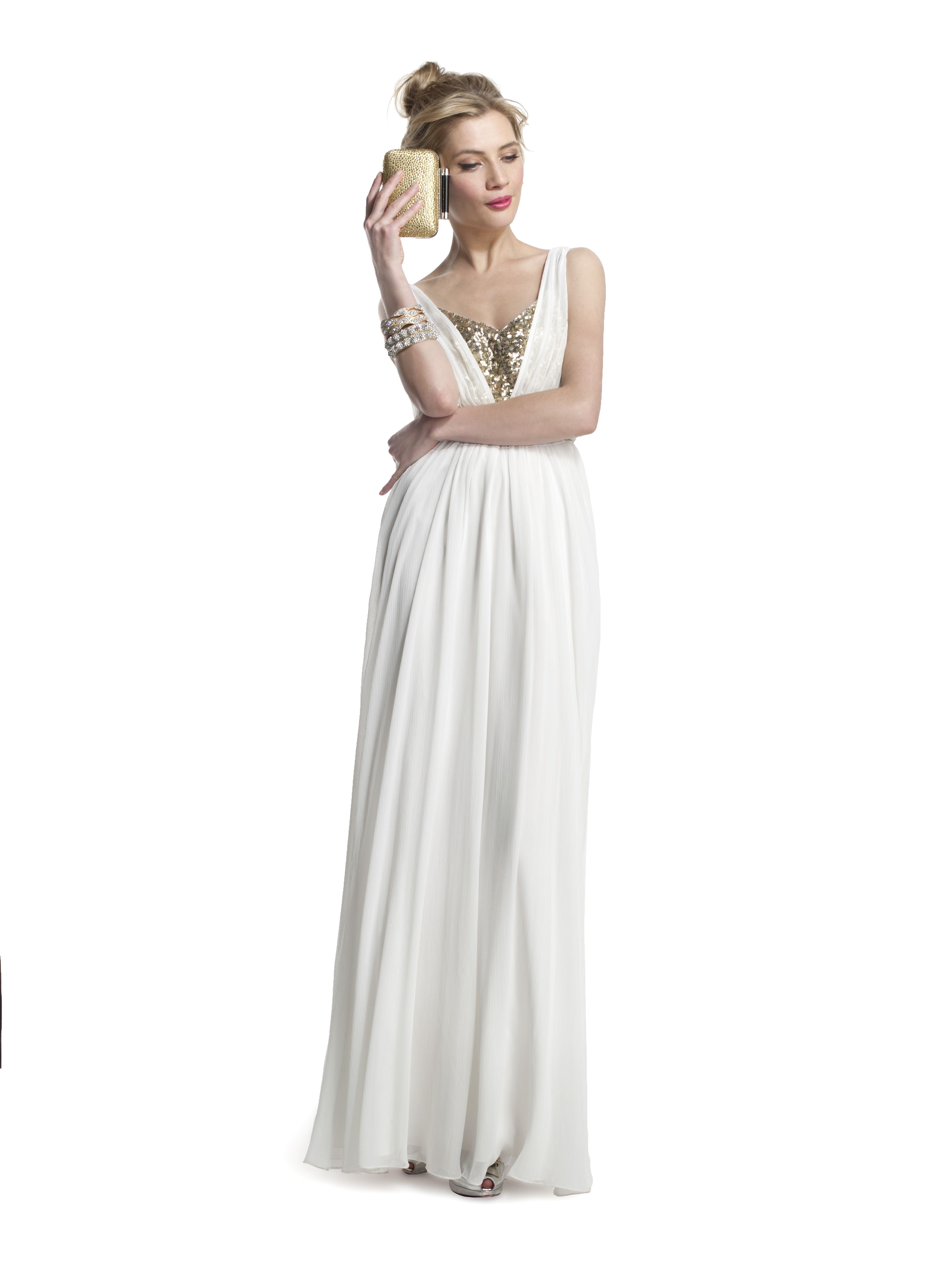 Loving this #WhiteHot gown from #Badgley for prom. Browse all styles here: http://www.renttherunway.com/all/occasions/prom