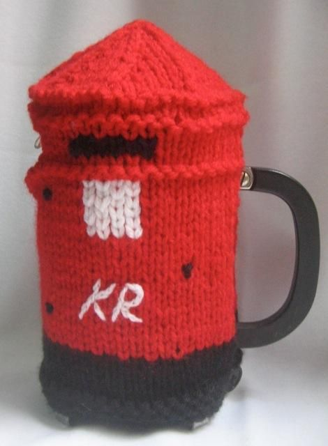 Post Box Coffee Plunger Cosy pattern on Craftsy.com | Tea Time ...