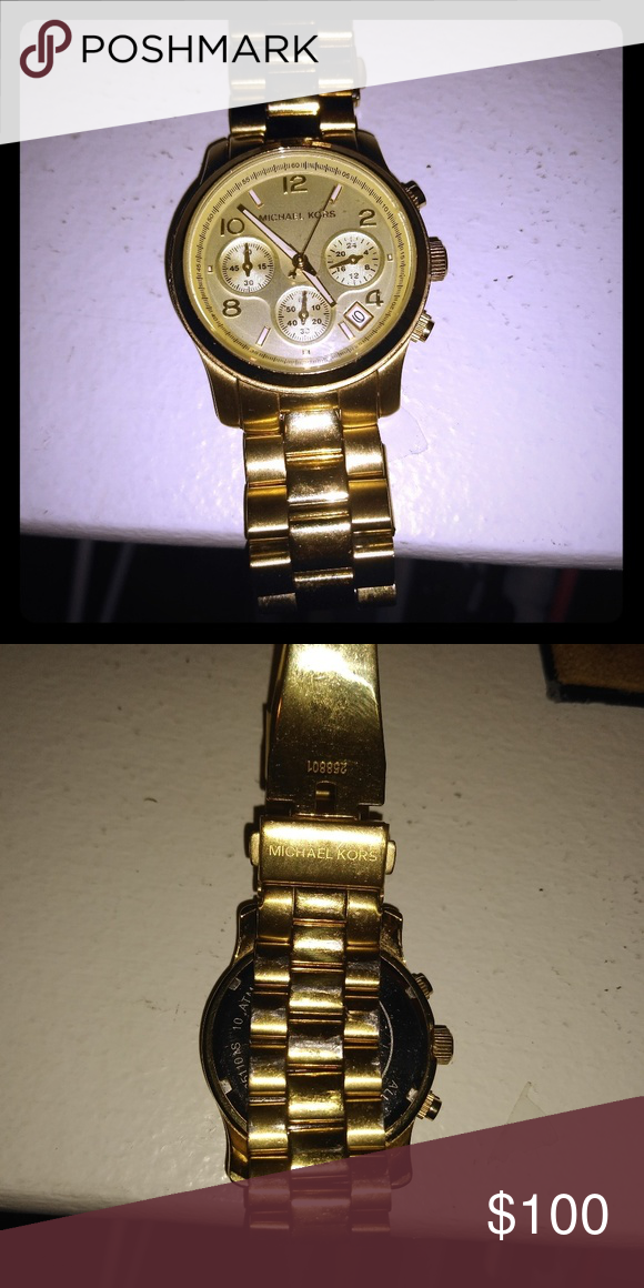 ff46bd892d63 Gold Michael Kors Watch Gold MK watch just needs batteries Accessories  Watches