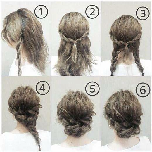 Peinado Peinados Elegantes Faciles Peinados Poco Cabello Peinados Con Pelo Recogido