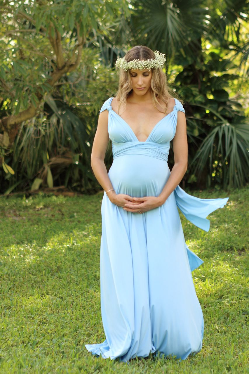 NuovaVita   Convertible Maternity Gown   Light Blue, $189.00 (http://www