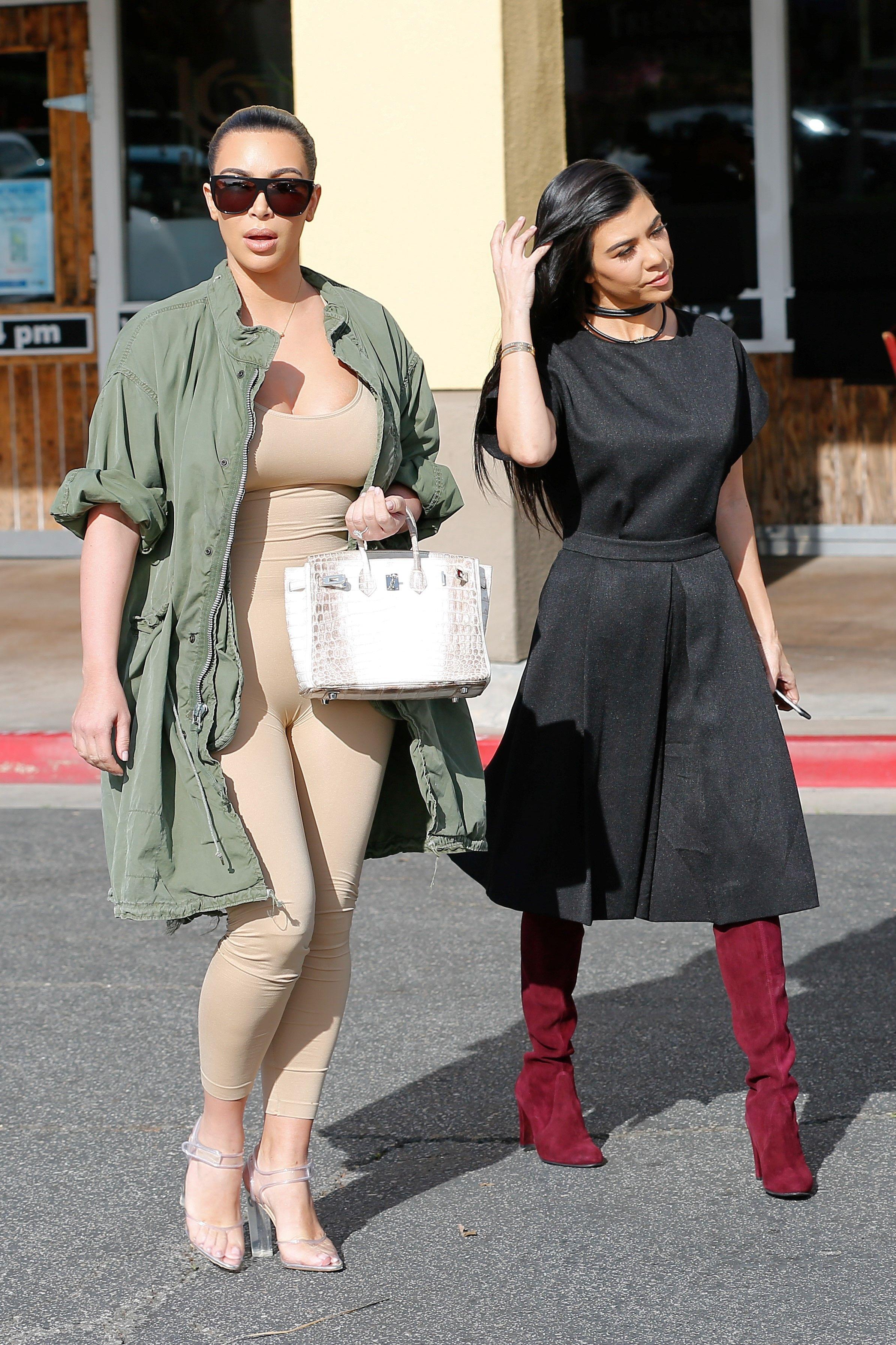 Kim Kardashian Steps Out in Nude Post Baby Fashion