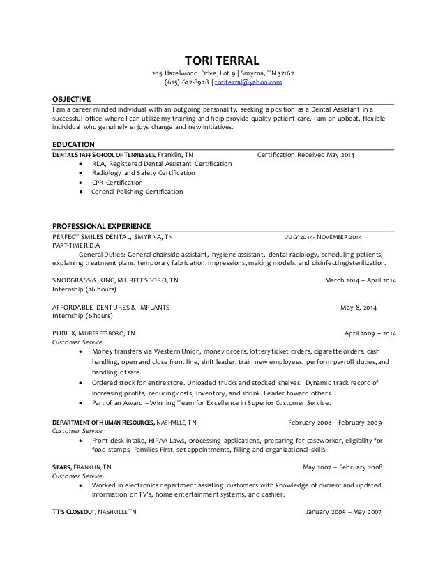Dental Assistant Resume Skills. Medical Assistant Resume With No