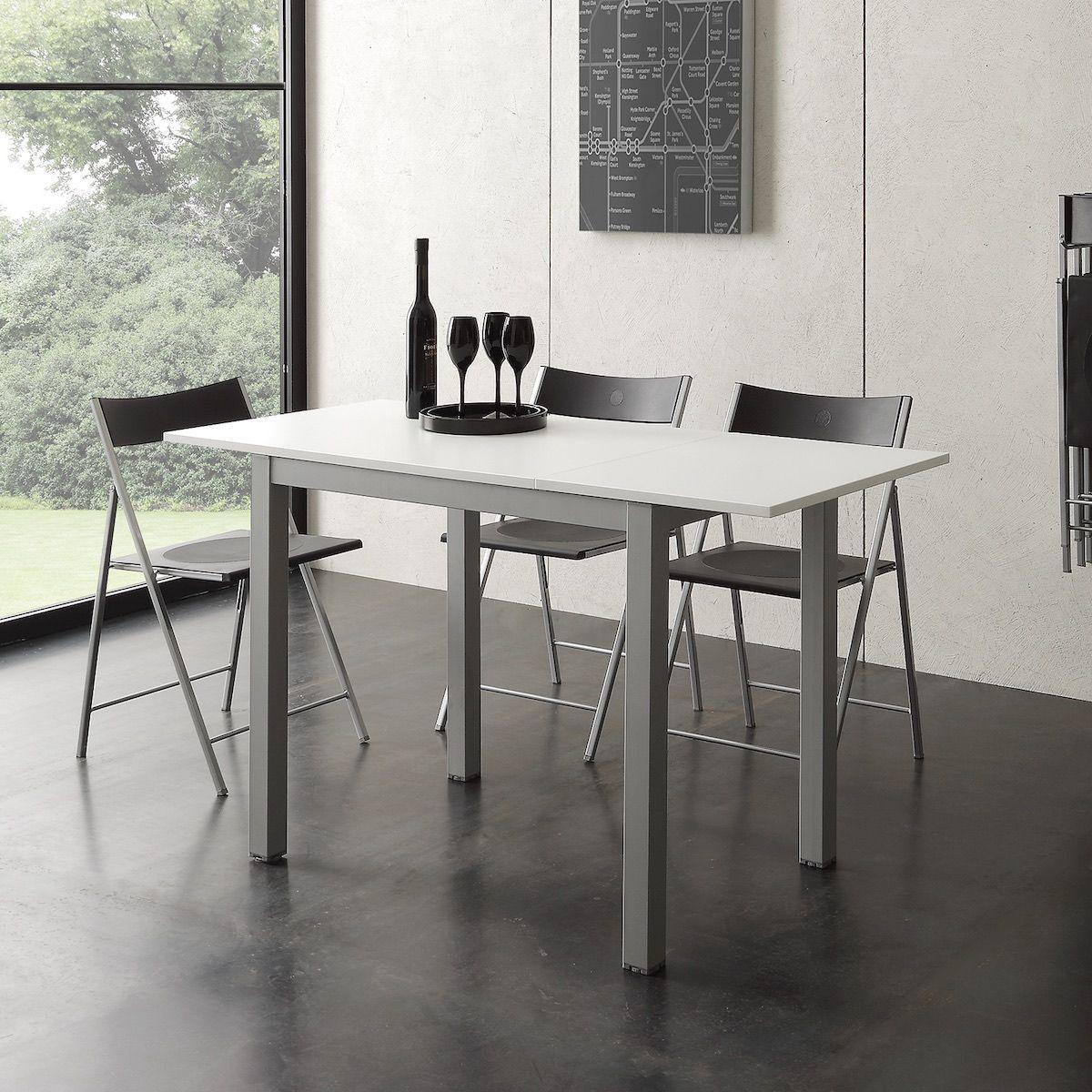 Tavoli Eleganti Sala Da Pranzo tavolo allungabile ingmar metallo e nobilitato 90 x 60 cm