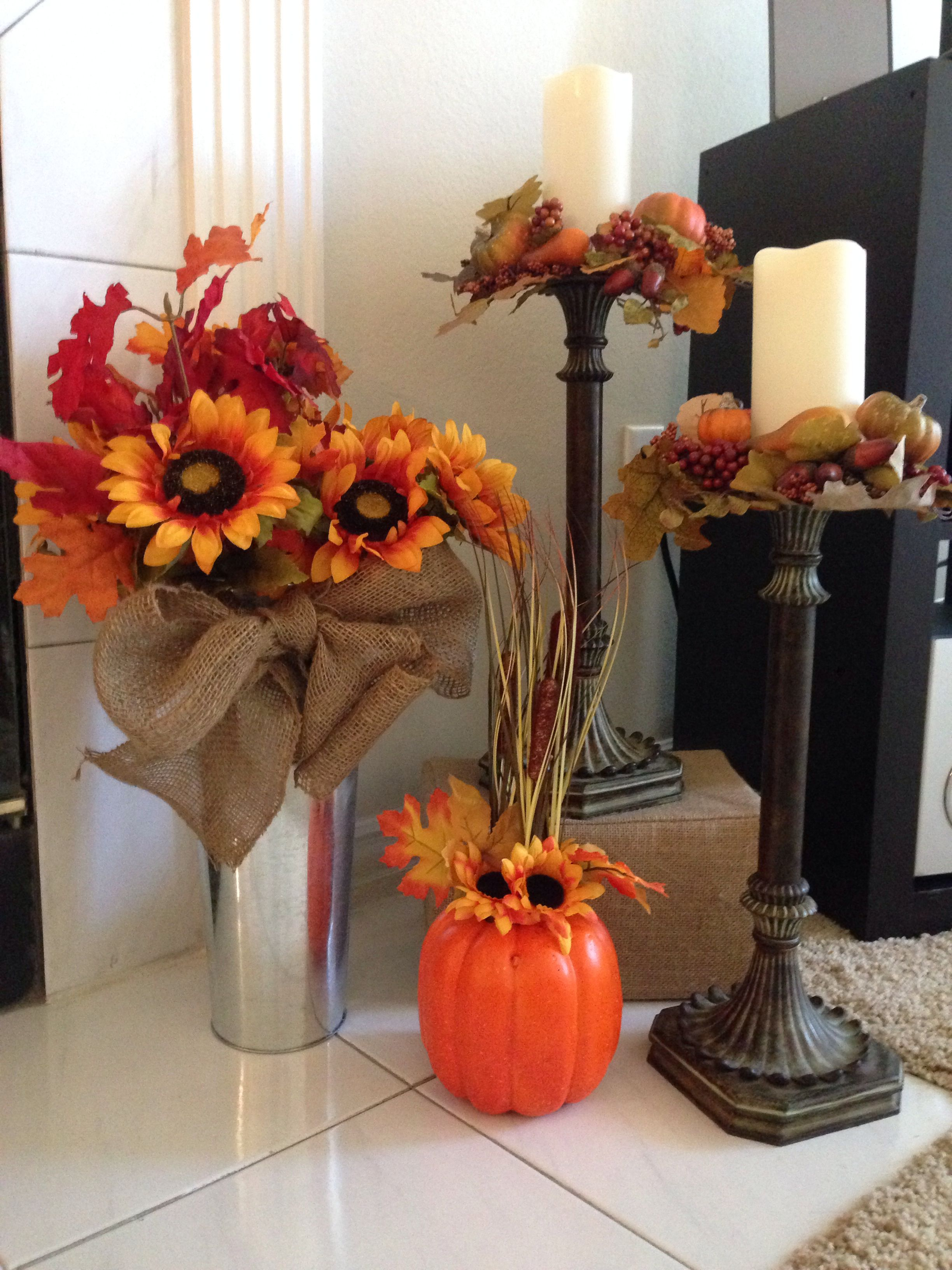 Fall decor from walmart and hobby lobby home stuff