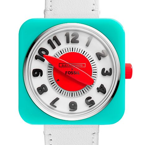 """Eley Kishimoto and Fossil launch watch with a """"new way of telling time""""."""