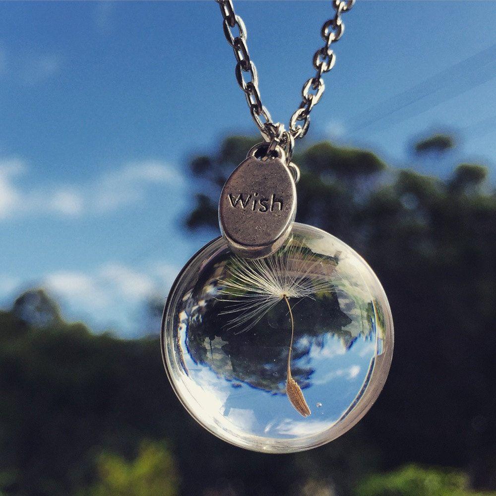 Dandelion Wish Necklace Dandelion Flower Jewelry Dandelion Seed Jewelry Dandelion Necklace Dandelion Jewellery Free Shipping Silver Dandelion Necklace Resin Jewelry Custom Jewelry Gift
