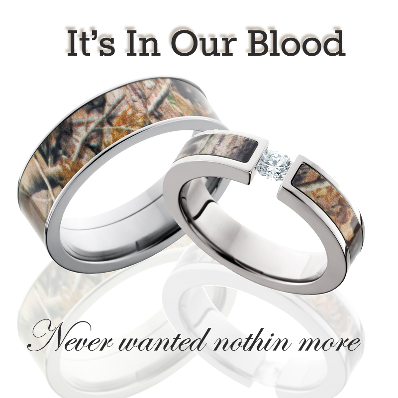 His And Hers Cz Camo Wedding Ring Set Camo Wedding Rings Sets Camo Wedding Rings Camo Rings