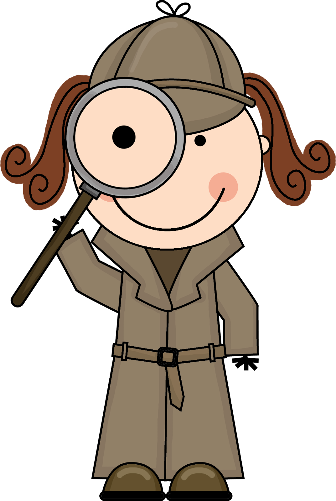 Girl Detective with Magnifying Glass | VBS | Pinterest | Clip art ...