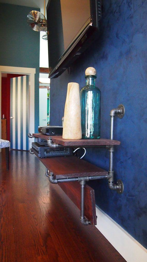 industrial living room shelf r cup pinterest salon industriel etagere salon et salon. Black Bedroom Furniture Sets. Home Design Ideas