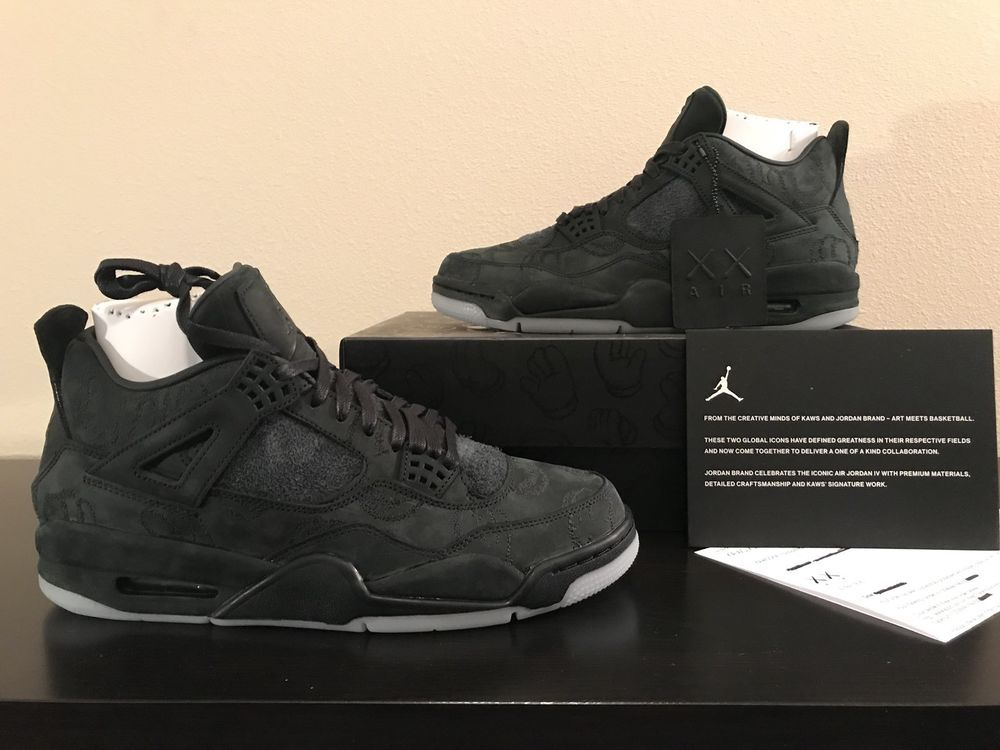 new product b22d8 a2705 Air Jordan Retro 4 Kaws Black Size 10.5 Ds With Receipt ...