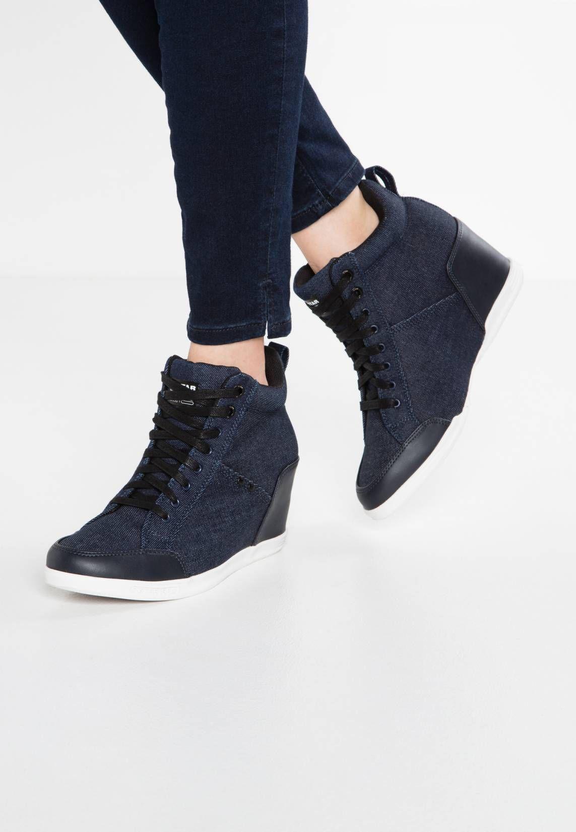 eda8db36513 G-Star. NEW LABOUR WEDGE - Sneaker high - dark navy. Sohle ...