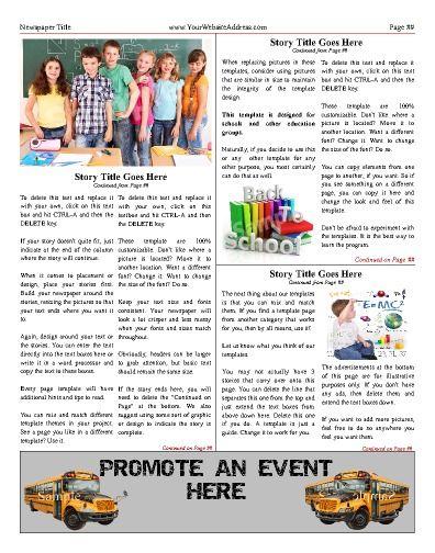 Free Newspaper Templates   Print And Digital Idea
