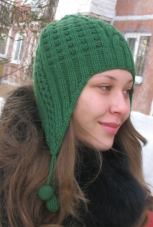 Free Knitting Pattern For Waffle Earflap Hat This Hat Features A