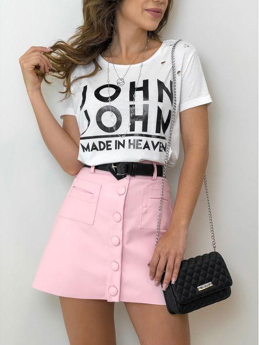 9695a83e24 T-shirt mc John John Logo Off White