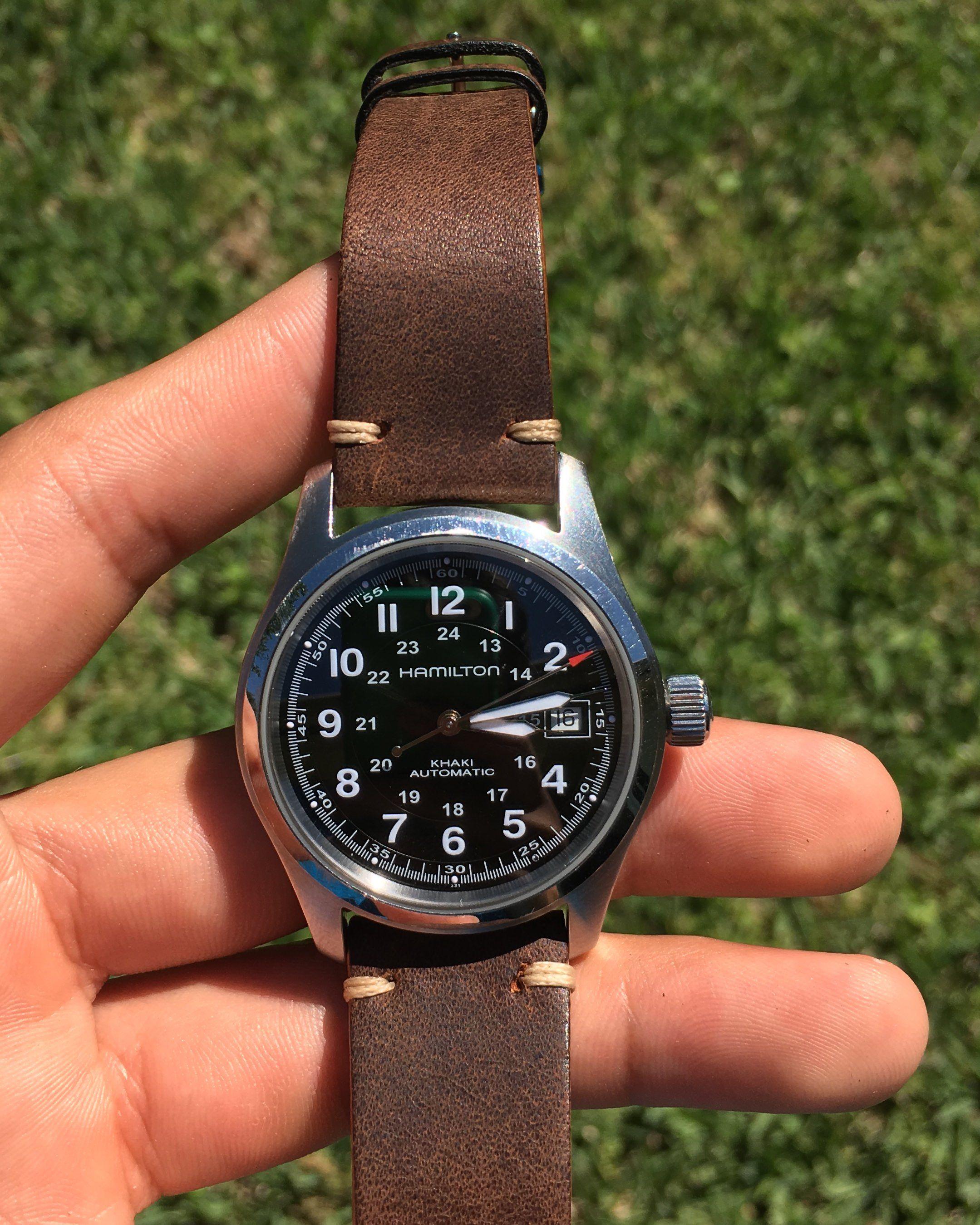 03a7b6525 [Hamilton Khaki Field Auto 38mm] Both casual and sporty via /r/Watches
