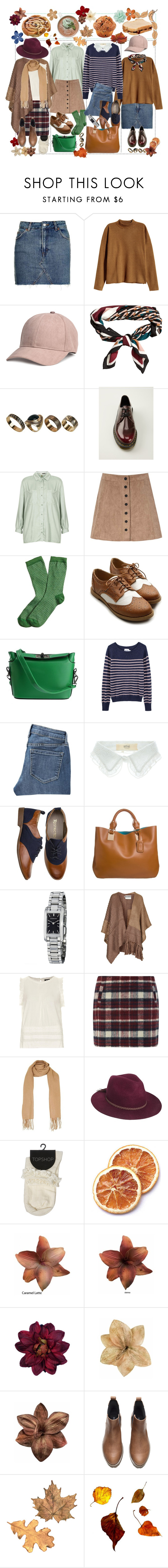 """// F A L L //"" by francesca-valentina-gagliardi ❤ liked on Polyvore featuring Topshop, H&M, ALDO, Dr. Martens, Glamorous, Brooks Brothers, Ollio, Steven Alan, Old Navy and Vanessa Bruno Athé"