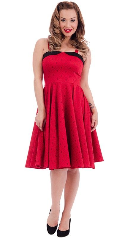 Steady Clothing Anchors Away Swing Dress in Red | Blame Betty
