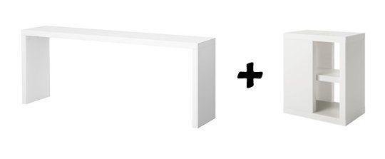 A Narrow Diy Desk With Slim Storage