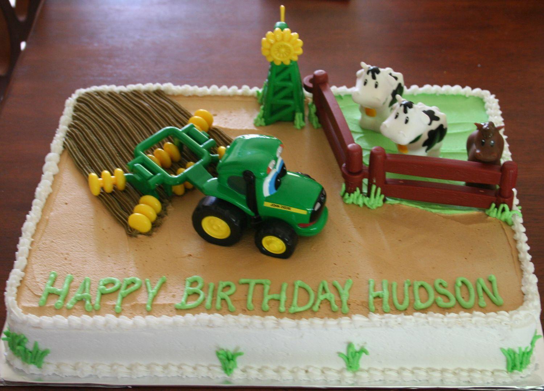 Farm Cake JOHN DEERE TRACTOR FARM CAKE Birthday Cakes