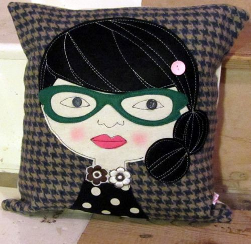 Green Glasses Cushion