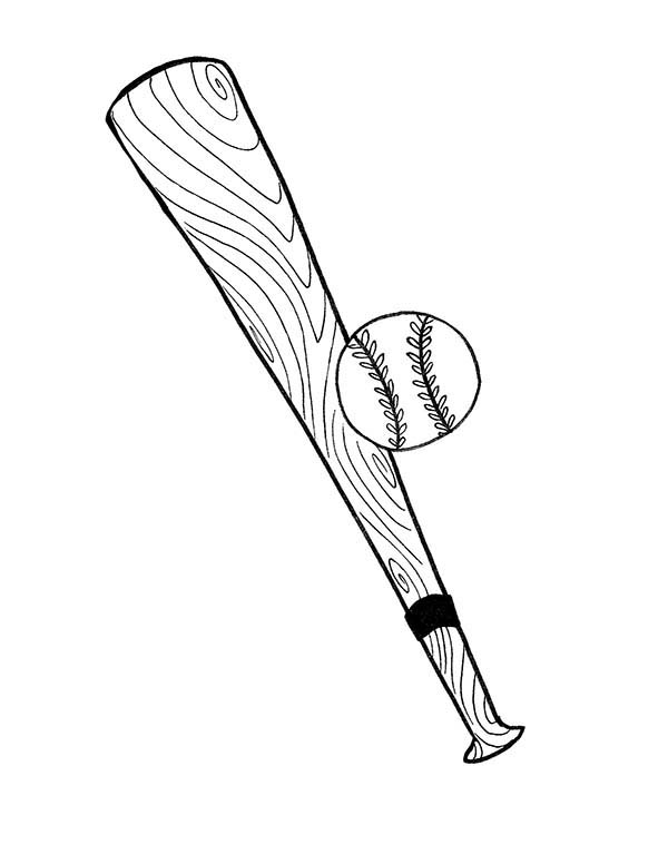 Baseball Bat And Ball Coloring Page Download Print Online Coloring Pages For Free Color Nimbus Bat Coloring Pages Coloring Pages Baseball Coloring Pages