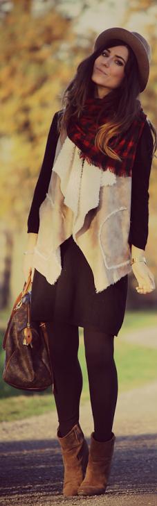 vestido e casaco colete