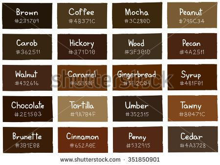 Explore Brown Color Palettes Colorore