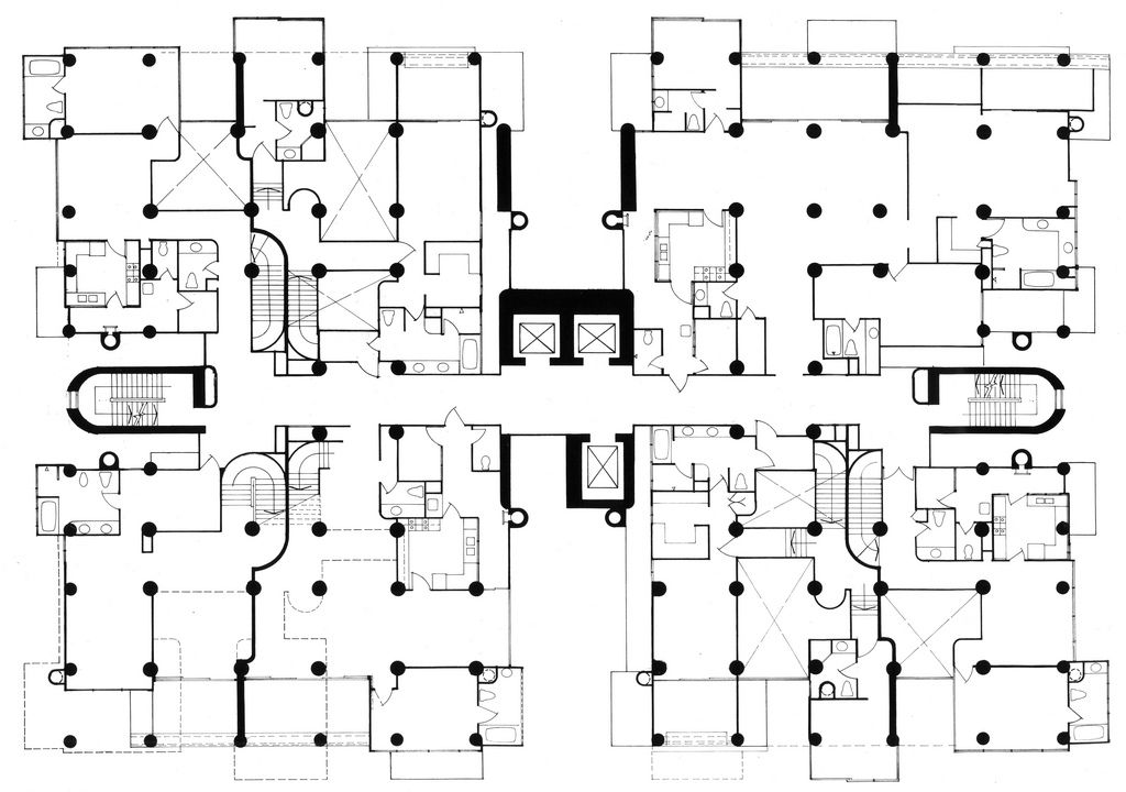Paul Rudolph The Colonnade Condominiums 1980 Singapore Paul Rudolph Condo Floor Plans Floor Plans