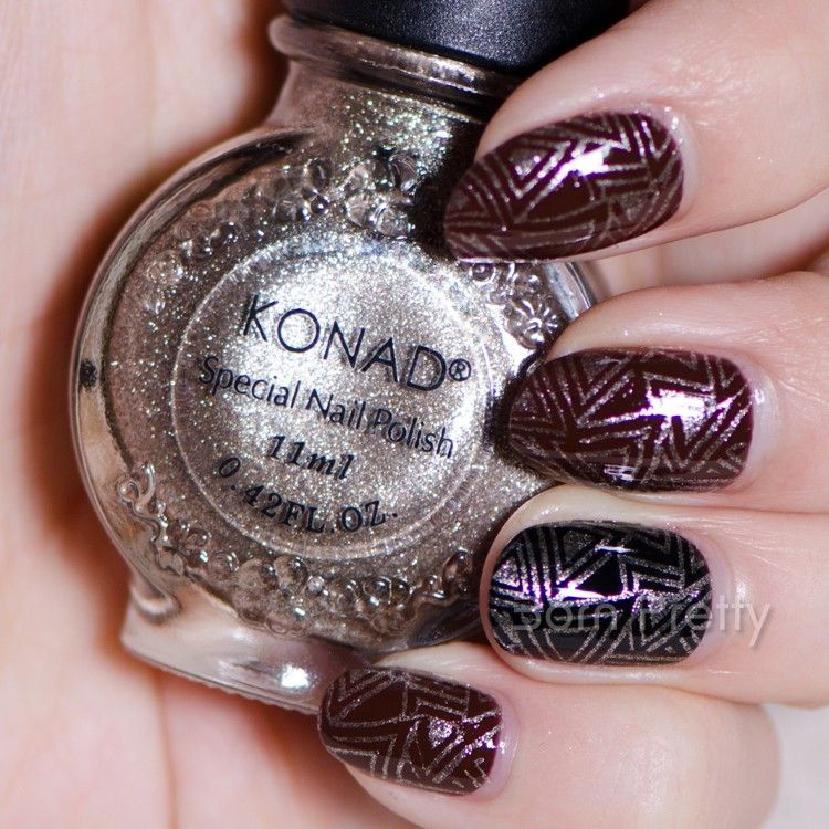$7.59 11ml Shining Konad Nail Art Stamping Polish Light Coffee ...