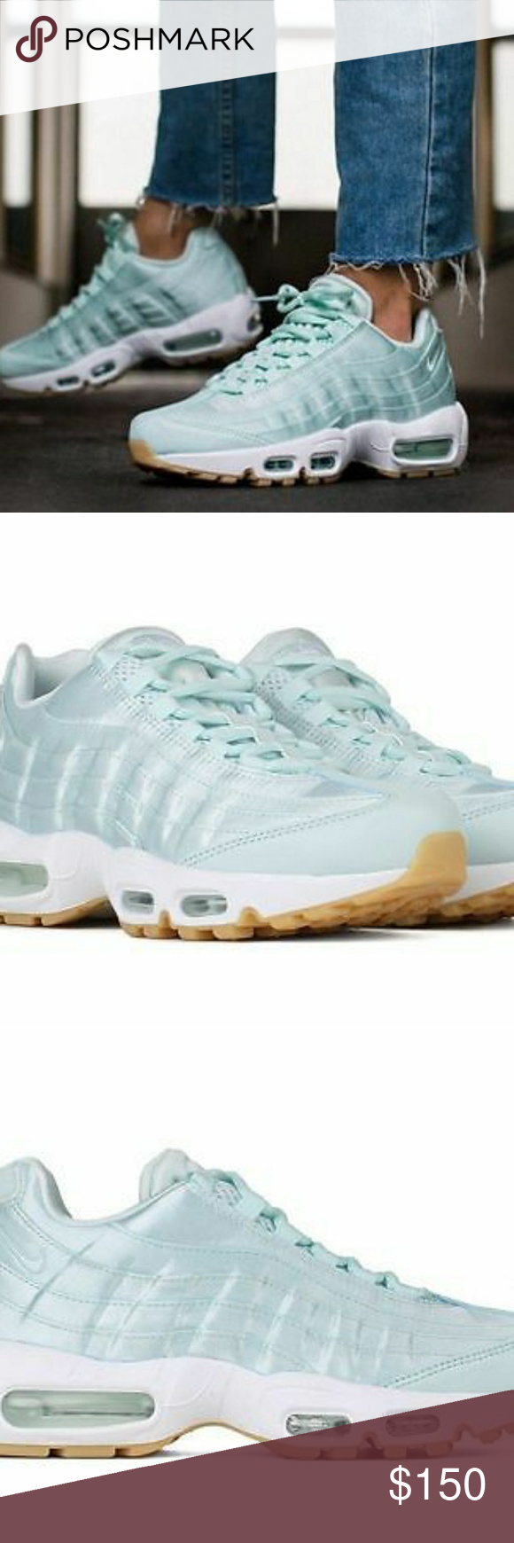59c1dcf67ee2 Nike Air Max 95 WQS Satin Fiberglass Size 6 Nike Air Max 95 WQS Satin Fiberglass  White Gum Yellow 919491-301 Women Size 6 Brand new with out box Nike Shoes  ...
