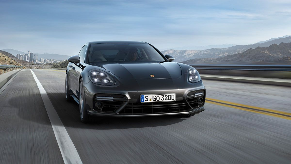 The Porsche Panamera Is Part Sports Car Part Luxury Sedan Porsche Panamera Porsche Panamera Turbo New Porsche