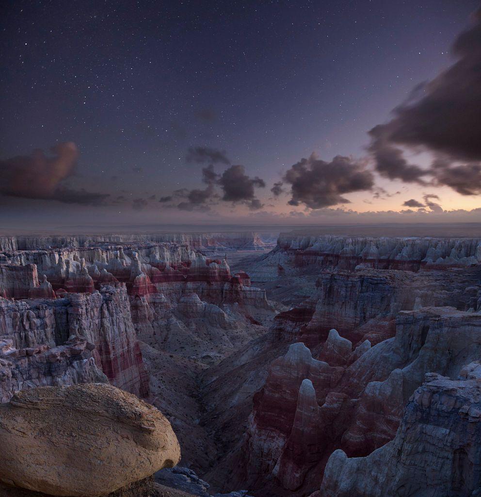 Twilight over Coal mine Canyon in north eastern Arizona