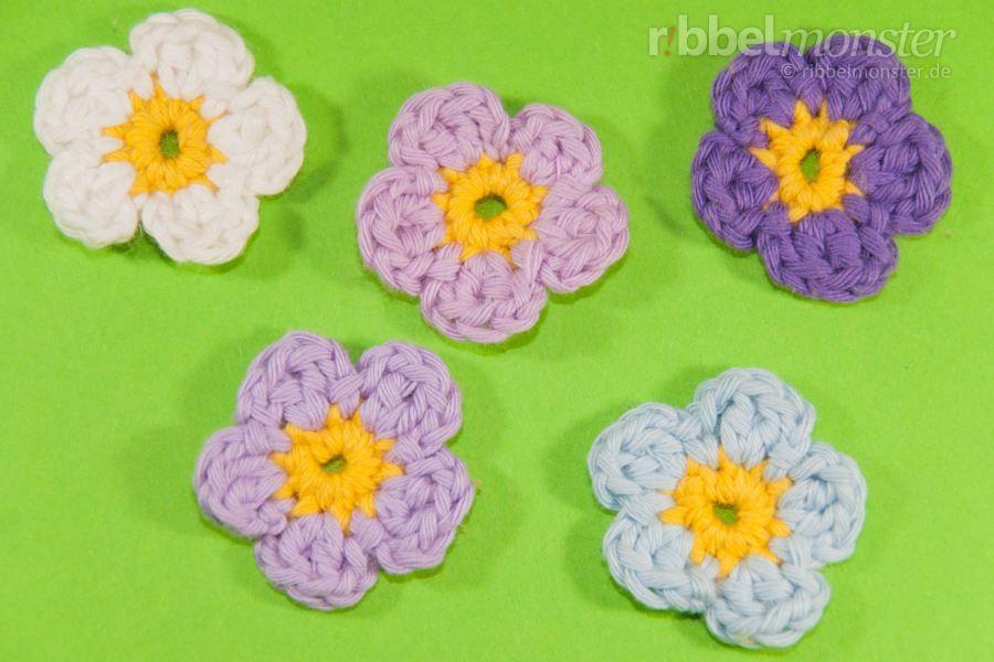 Blumen Häkeln Kleine 5 Blättrige Blüte Als Nächstes Machen O