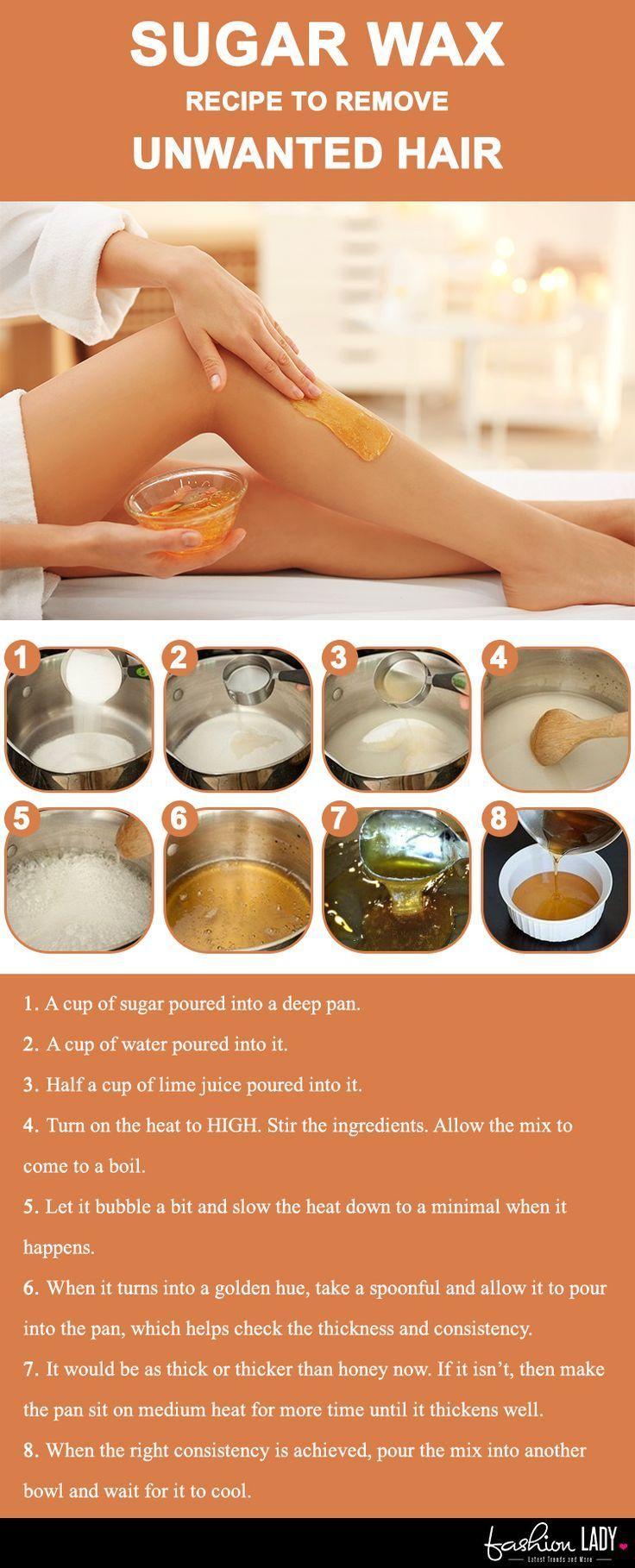 Sugar Wax Recipe To Remove Unwanted Hair Sugar Wax Recipe Unwanted Hair Removal Sugar Waxing