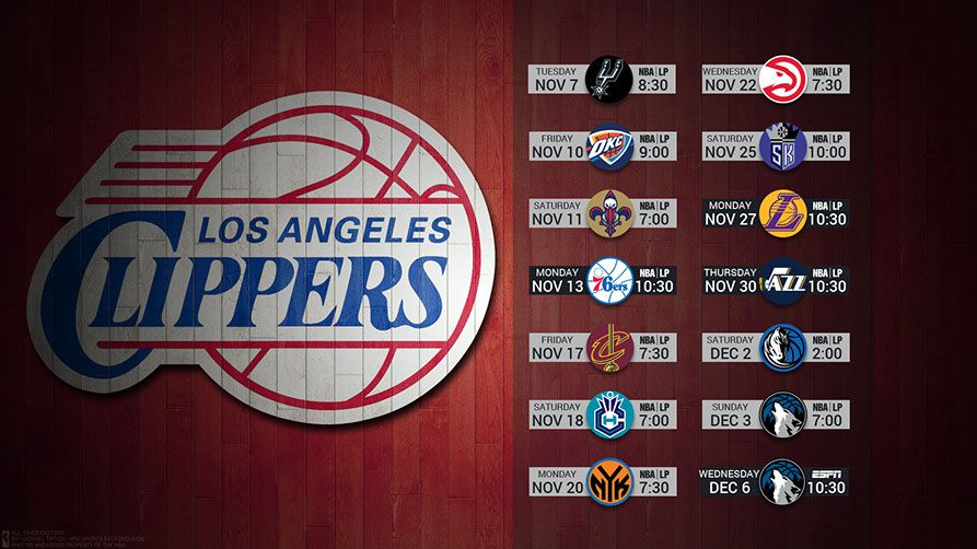 LA Clippers 2017 Schedule Wallpaper