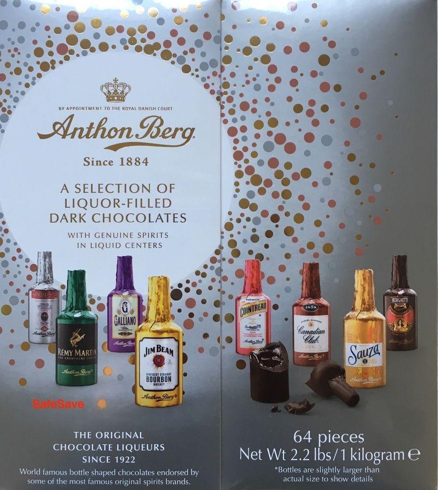 10 x Anthon Berg Chocolate Liqueurs 2.2 Lbs 64 Pieces NEW