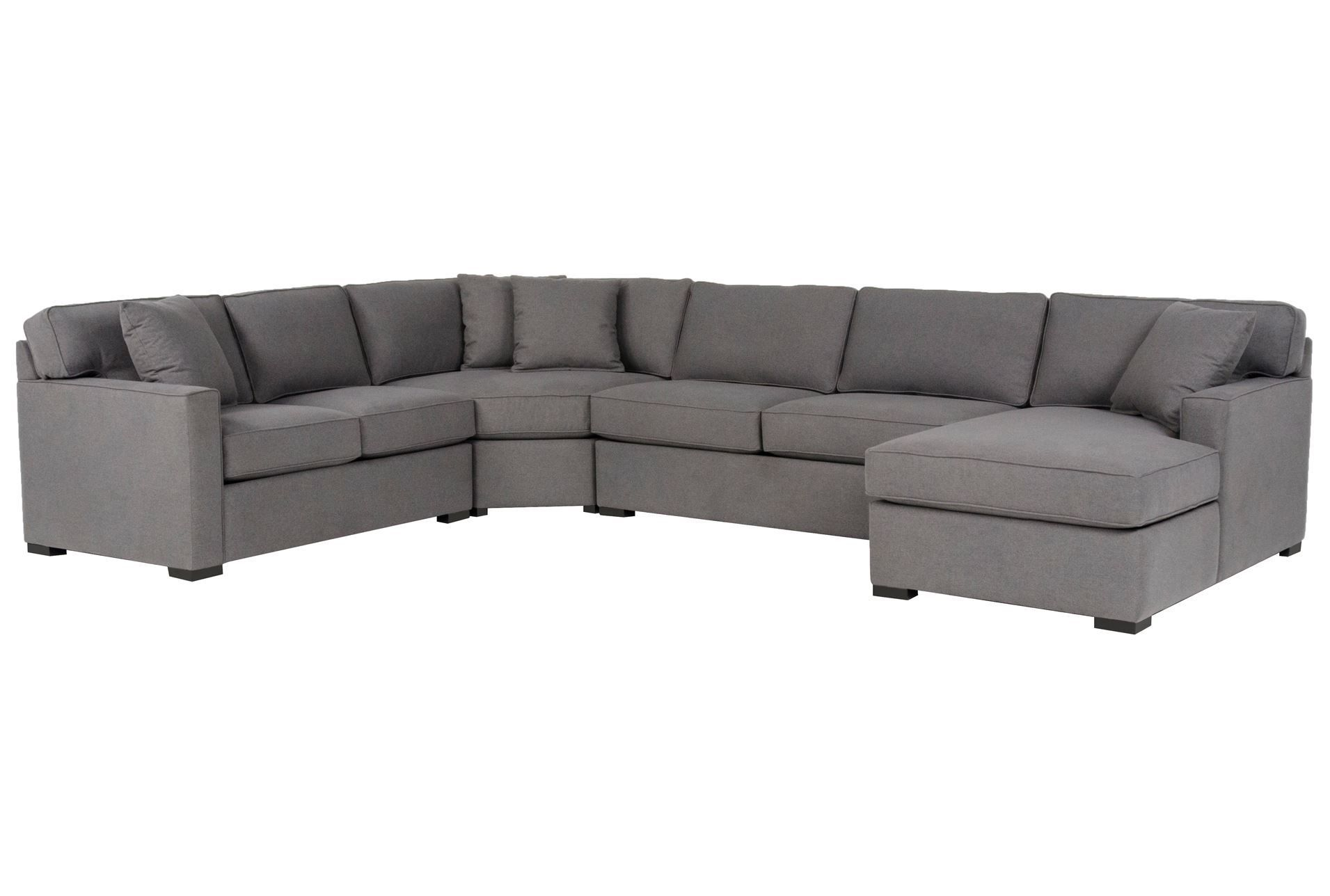 Alder Foam 4 Piece Sectional W Right Arm Facing Chaise Comfy Seating Sectional Sofa Inspiration
