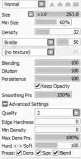 Motion blur settings