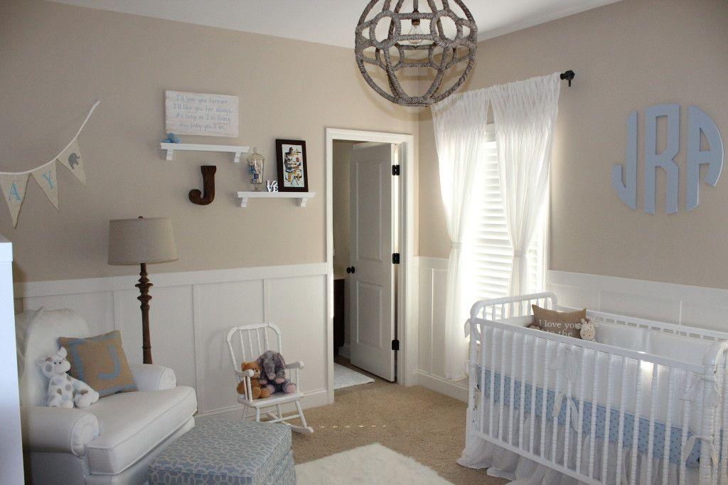 Beige And White Neutral Nursery For Baby Boy Nursery