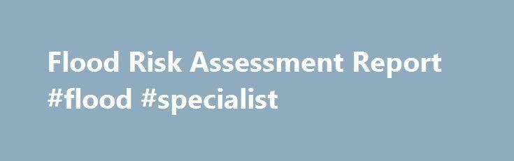 Flood Risk Assessment Report Flood Specialist HttpGameNef