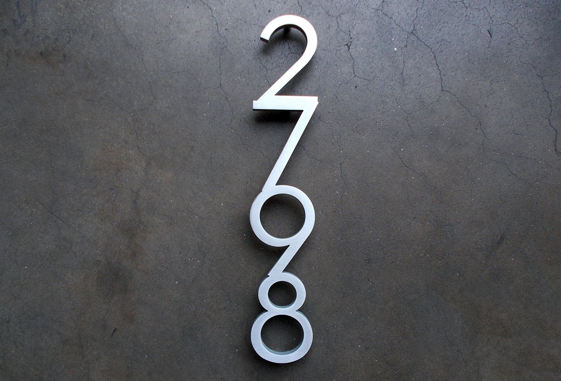 Vertically Connected Palm Springs Digits By Request Have Something Special In Mind Just Ask We Love Y Mailbox Numbers Custom House Numbers Modern Mailbox
