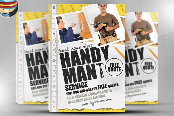 handyman flyer template by flyerheroes on creativemarket flyer