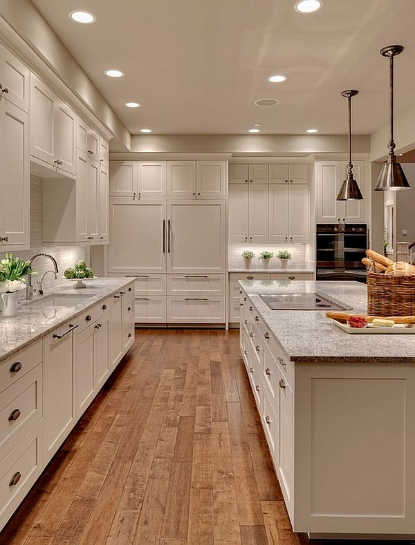 Transitional White Kitchen Cabinets Pin on Home/ Design Ideas