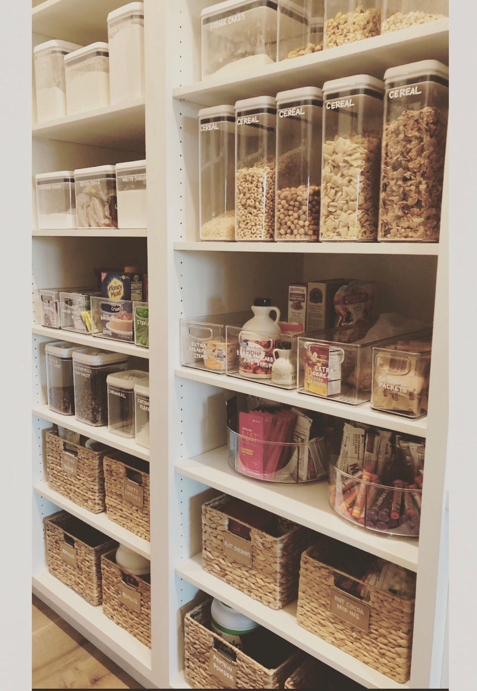 Pretty Organized Shelves Shelf Organization Bed Bath And Beyond Pantry Organization