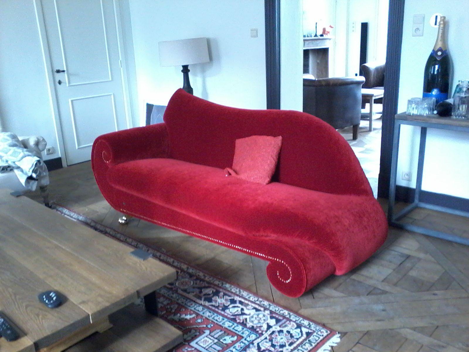 Bretz Gaudi Recamiere In Opera Red By Zetelboetiek Bretz Belgium Furniture Chaise Lounge Home Decor