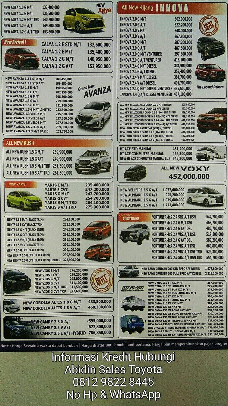 Kelebihan Daftar Harga Toyota Tangguh